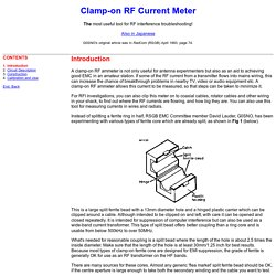 Clamp-on RF Current Meter