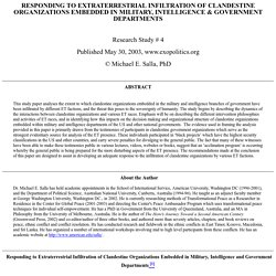 Exposing the Clandestine/ET Agenda to Control Human Consciousness