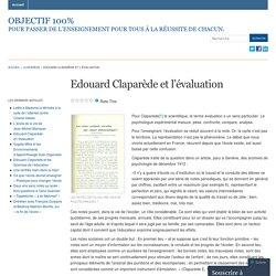 Edouard Claparède et l'évaluation « Objectif 100%