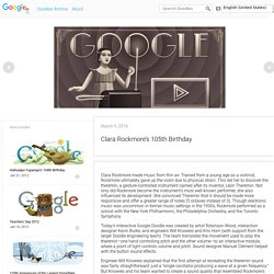 Clara Rockmore's 105th Birthday