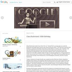 Clara Rockmore's 105th Birthday