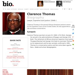 Clarence Thomas - Biography - Lawyer, Supreme Court Justice - Biography.com
