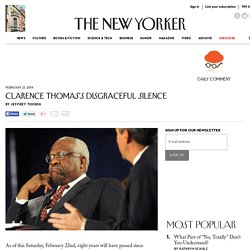 Clarence Thomas's Disgraceful Silence - The New Yorker