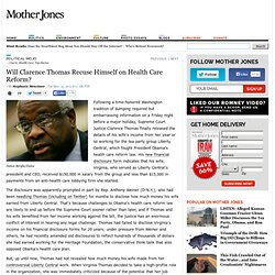 Will Clarence Thomas Recuse Himself on Health Care Reform?