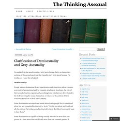Clarification of Demisexuality and Gray-Asexuality