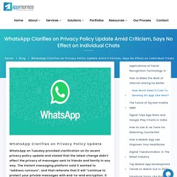 Privacy Policy Clarification