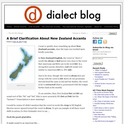 A Brief Clarification About New Zealand Accents