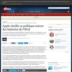 Apple clarifie sa politique autour des batteries de l'iPod