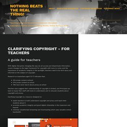Clarifying Copyright - For Teachers