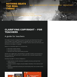 Clarifying Copyright - For Teachers