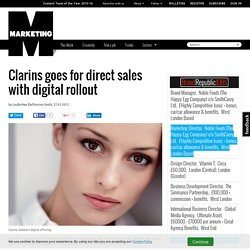 Clarins goes for direct sales with digital rollout