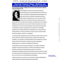 Clarissa Pinkola Estes, «Mujeres que corren con los lobos», Crítica literaria