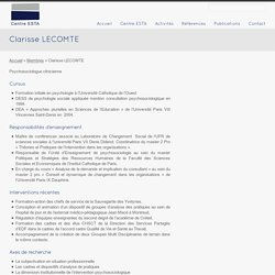 Clarisse LECOMTE - Centre ESTA