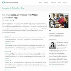 Clarity Innovations- Create, Engage, and Assess with Mobile Assessment Apps