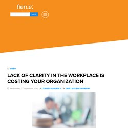 Lack of Clarity in the Workplace is Costing Your Org - Fierce, Inc. - Fierce, Inc.