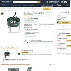 Clarke Rotary Soil Sieve CRS400: Amazon.co.uk: DIY & Tools