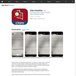 Claro ScanPen on the AppStore