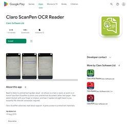 Claro ScanPen OCR Reader – Apps on Google Play