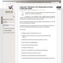 Claroline 1.5.2 (Classroom on-line) dans les écoles
