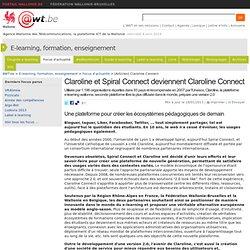 Claroline et Spiral Connect deviennent Claroline Connect