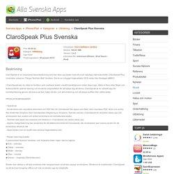 ClaroSpeak Plus Svenska - iPhone/iPad - Svenska Apps