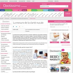 Clarté nucale - Mesure de la clarté nucale du fœtus
