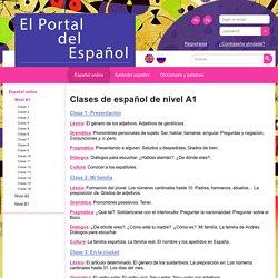 Clases de español: nivel A1