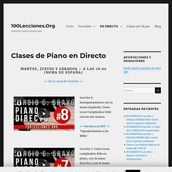 Clases de Piano en Directo - 100Lecciones.Org