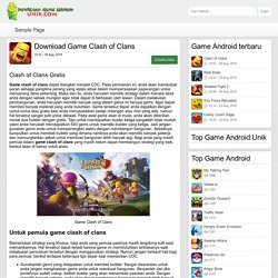 Clash of Clans - Download Game Android Unik – Game android terbaru 2016