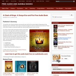 A Clash of Kings: A Song of Ice and Fire Free Audio Book Download