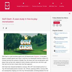 Golf Clash: A case study in free-to-play monetization - Mobile Dev Memo