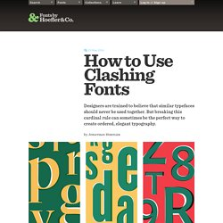 How to Use Clashing Fonts