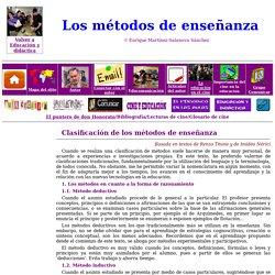 Clasificación de métodos de enseñanza