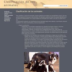 Clasificación de los animales - Clasificación de los animales