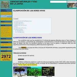 CLASIFICACIÓN DE LOS SERES VIVOS - CIENCIAS NATURALES 1º ESO IES LA ZAFRA
