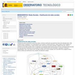 Redes Sociales - Clasificación de redes sociales