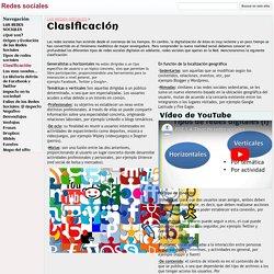 Clasificación - Redes sociales