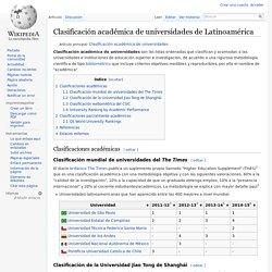 Clasificación académica de universidades de Latinoamérica