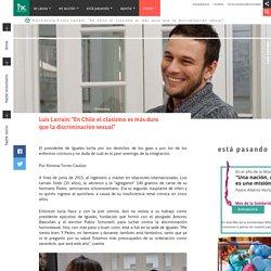 """Luis Larraín: """"En Chile el clasismo es más duro que la discriminación"""""""