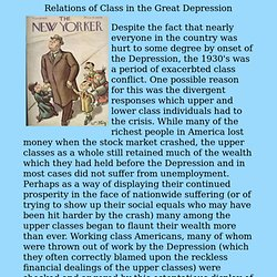 Class in the 1930's