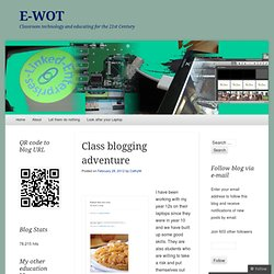 Class blogging adventure « E-WOT