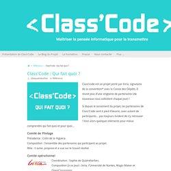 Class'Code : Qui fait quoi ? – Class'Code