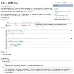 Class: DataTable - documentation