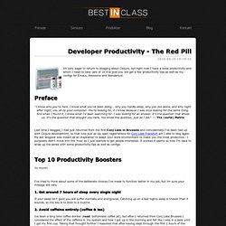 Developer Productivity - The Red Pill