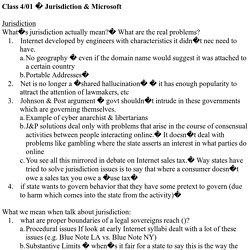 Class 4/01 � Jurisdiction & Microsoft