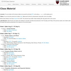 Class Material
