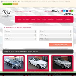 Used C Class Mercedes-Benz - Find Mercedes-Benz C Class Cars for Sale at Rix Motor Company