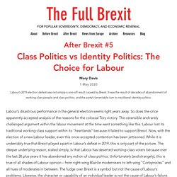 Class Politics vs Identity Politics