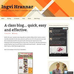 A class blog… quick, easy and effective.