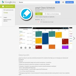 yasp! Class Schedule - Applications sur l'Android Market